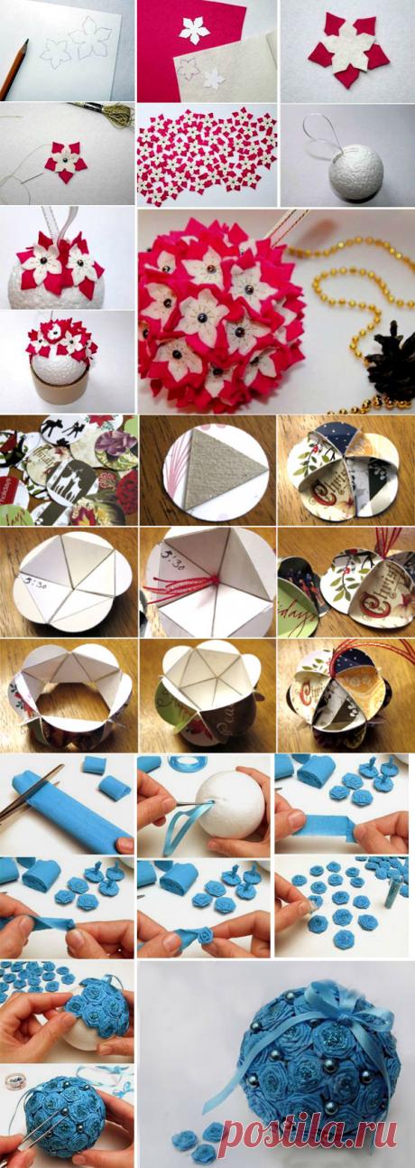 Как сделать новогодние шары своими руками: 10 оригинальных идей :: Стол, елка, атрибуты :: KakProsto.ru: как просто сделать всё
