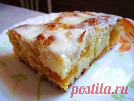 Пирог Персиковое наслаждение   Самые вкусные кулинарные рецепты
