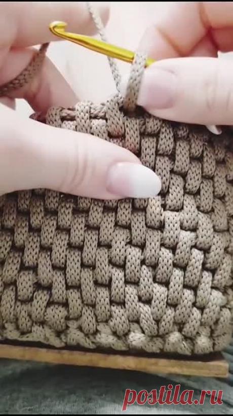Узор ротанг крючком