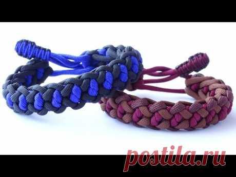 2-х цветный браслет из паракорда