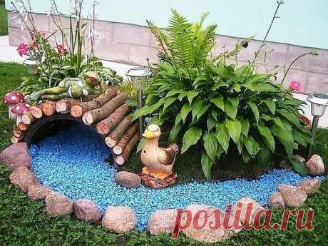 Идея как украсить двор