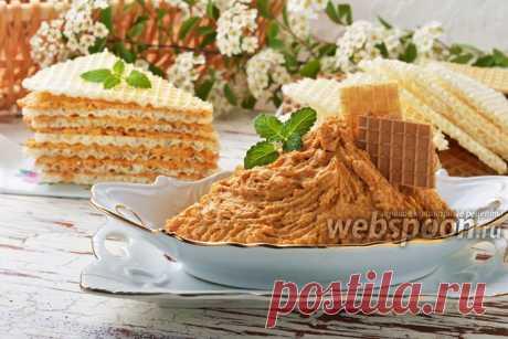 Крем для вафельных коржей рецепт с фото, как приготовить на Webspoon.ru