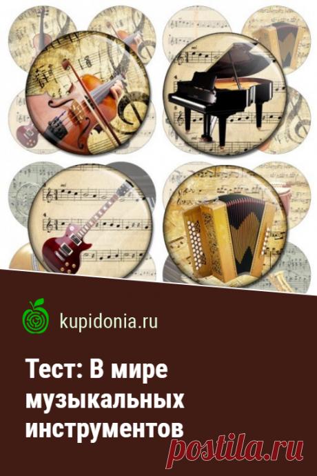 Тест: В мире музыкальных инструментов. Тест по музыке о музыкальных инструментах. Проверьте свои знания!