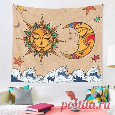 Sun God & Moon #4: Smile Tapestry