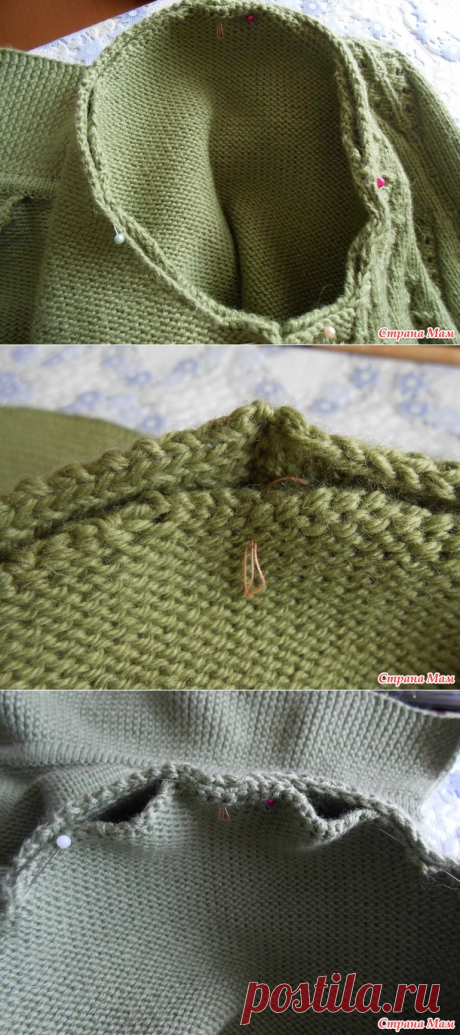 Вариант вшивания рукава. МК от Ирины Казбан. Страна Мам
