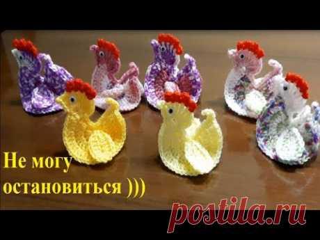 Вязаная Курочка. Knitted Chicken.
