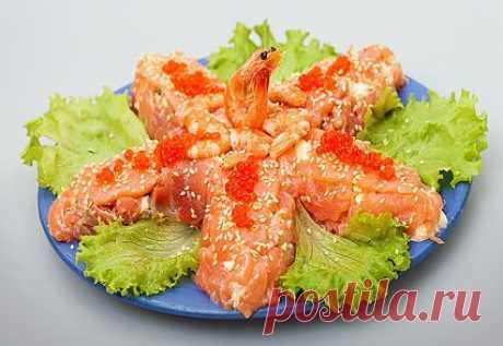 Рыбный салат «Морская звезда»