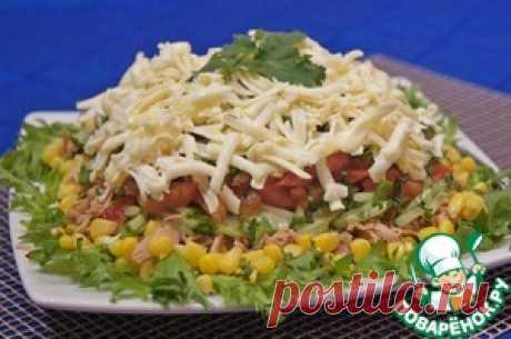 """Салат с тунцом """"Легкий"""" - кулинарный рецепт"""