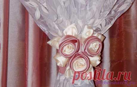 Как сшить цветок из ткани для штор: выкройка руками профи