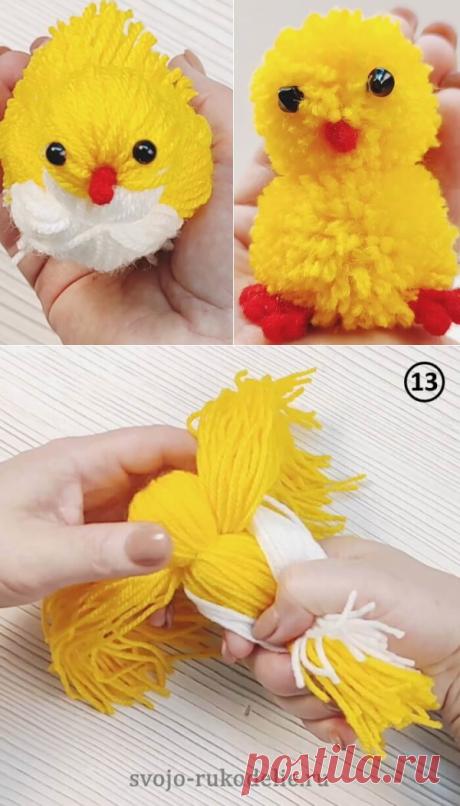 Цыпленок из пряжи: мастер-класс ~ Свое рукоделие