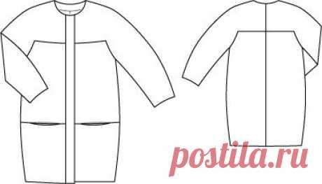 (30) пальто кокон | Burda