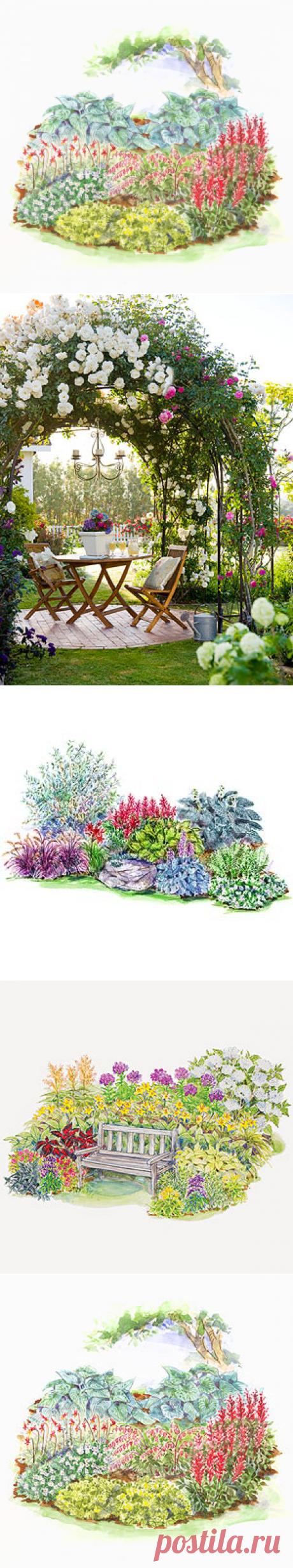 Холодный климат План Тень сад