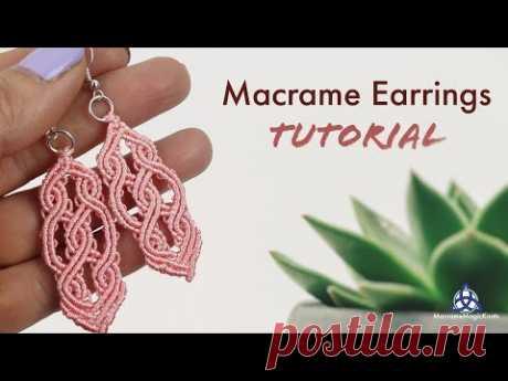 MACRAME EARRINGS TUTORIAL - Double Celtic Pattern