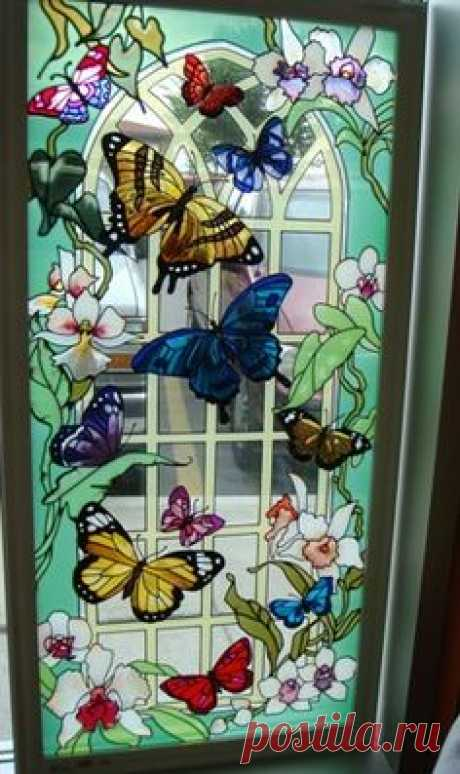 Butterflies ♥ Stained Glass ♥ Beautiful