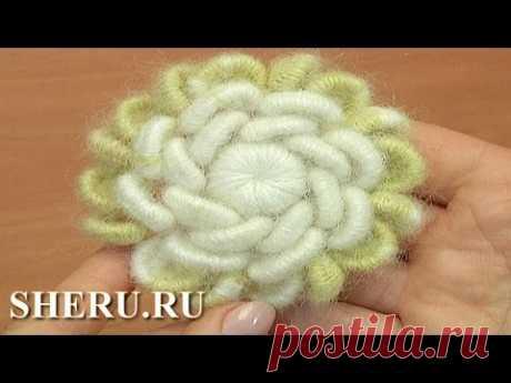 Цветок вязаный крючком Урок 138