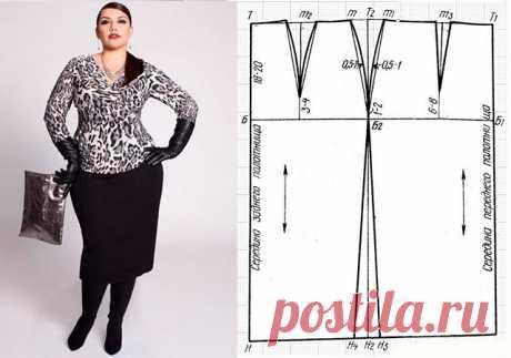 Выкройки модных юбок для полных женщин