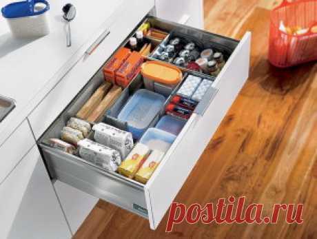 Наводим порядок в кухонных шкафах и ящиках   Комфортная жизнь