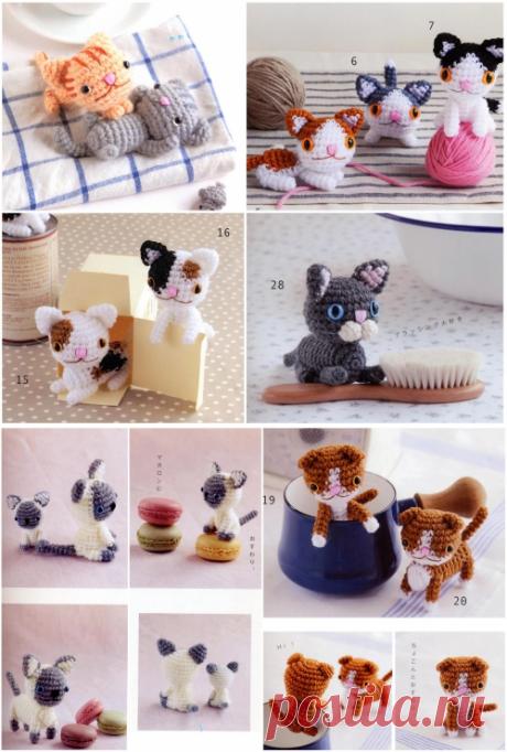 Котенок амигуруми / Вязаные игрушки / В рукоделии