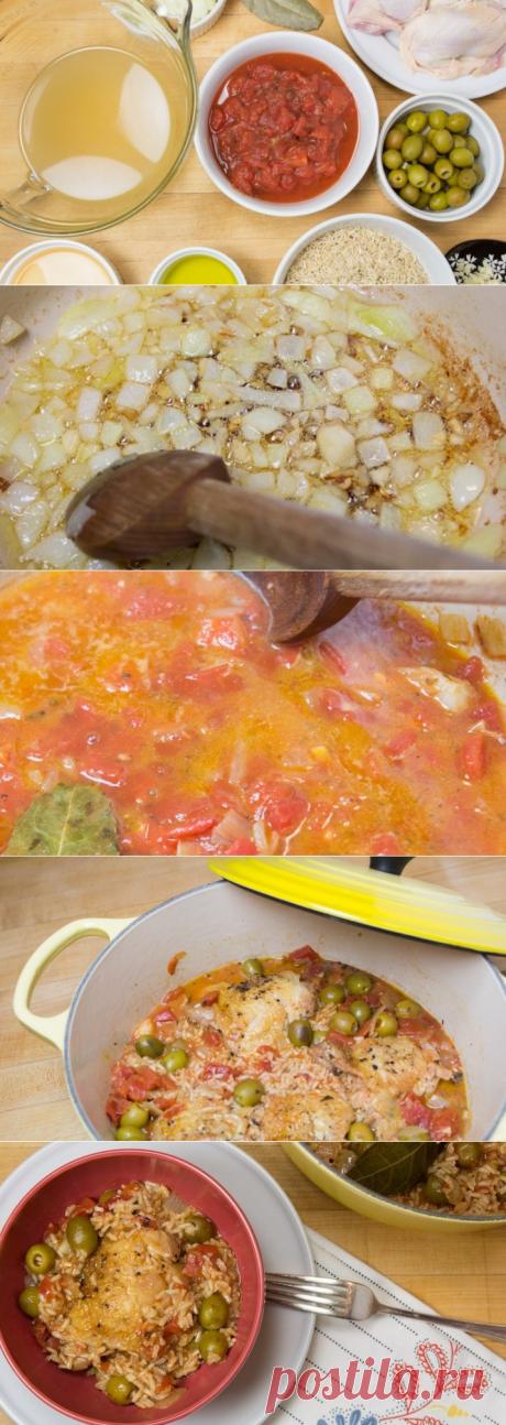 Как приготовить рис с курицей и оливками - пошаговый рецепт с фото