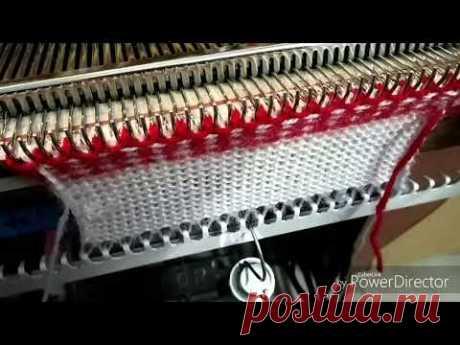 Double color border design in knitting machine #1 (निटिंग मशीन में डबल कलर बोडर डिजाइन #1)