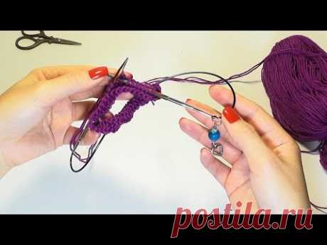 Magic loop or how to knit small products on circular spokes with a long scaffold - YouTube