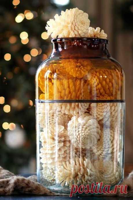 Отбеливаем сосновые шишки для новогоднего декора - Сам себе волшебник