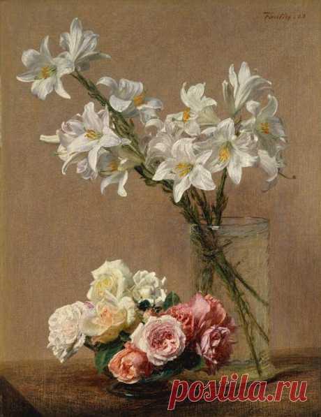 Henri Fantin-Latour(Roses and Lilies)