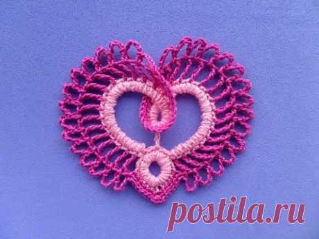 Сердечко крючком - How to make pretty and easy crochet heart