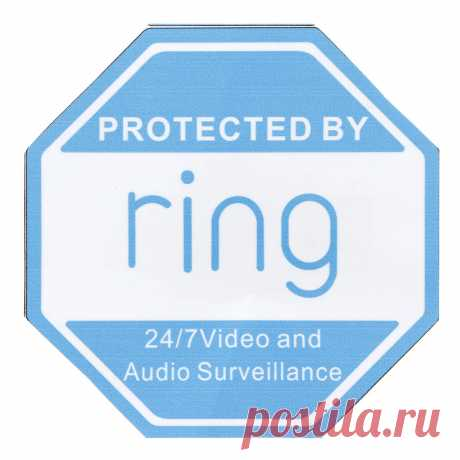 "4"" x 4"" Ring Doorbell Sticker Video Security Camera Yard Sign Sticker Outdoor - US$1.49"