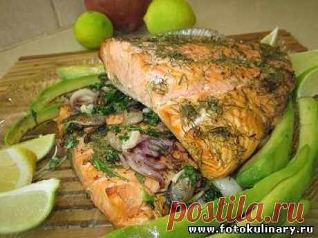 Запечённая рыба с морепродуктами
