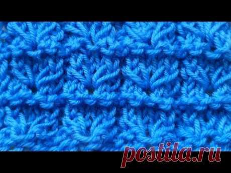 Вязание для начинающих. Как вязать узор Ушки