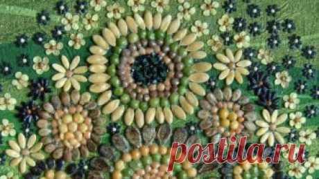 DIY.Картины из семян,круп и злаков. Семена, крупы, злаки - этот природный материал использовался для создания картин.Всё натуральных цветов. Для фонов, в некоторых картинах, использовала манную...