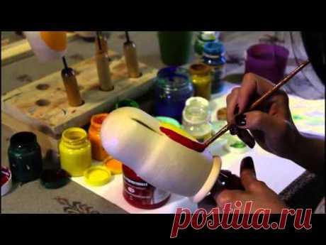 La Clase maestra la pintura de la Matrioshka. La parte 1 - YouTube