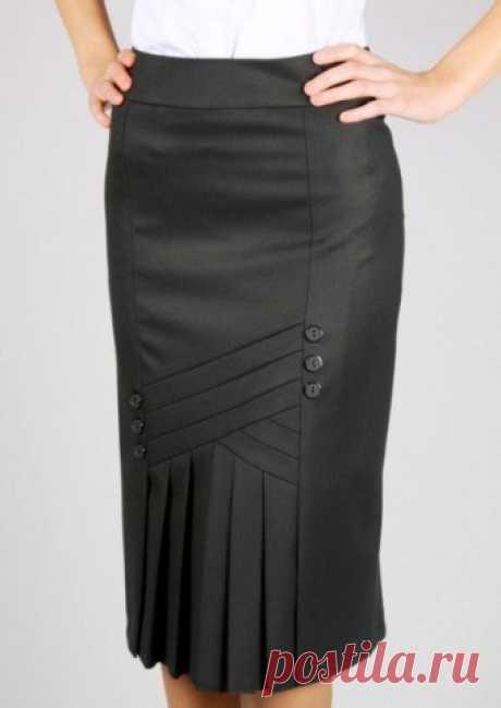 Выкройка юбки-карандаш со складками в передней части (Шитье крой) | Журнал Вдохновение Рукодельницы