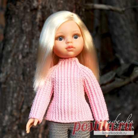 Скажите, а куколкам бывает холодно, как Вы думаете? Вяжем крючком свитер для кукол.
