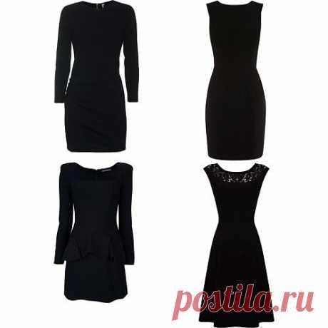 Маленькое черное платье Приятный нюанс: черный цвет стройнит. Чтобы получить максимальный эффект, выбирайте платье лаконичного четкого кроя, которое будет сидеть по фигуре. Черные платья мешковатого фасона с драпировками или заметной отделкой на роль базовой вещи не подойдут.