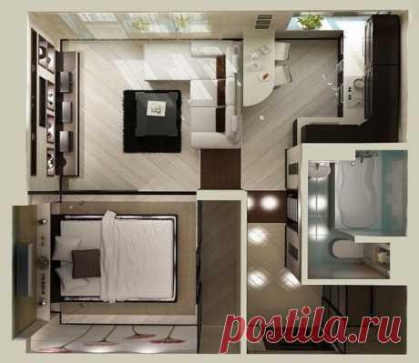 Как из однокомнатной квартиры сделать двухкомнатную ⋆ Прорабофф.рф
