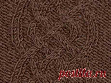 Арановый узор 83 — Shpulya.com - схемы с описанием для вязания спицами и крючком