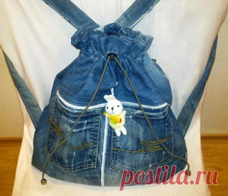 Модный портал. рюкзак из старых джинсов - Все о моде