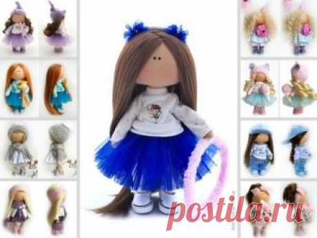 Tilda Cloth Doll, Soft Blue Doll, Textile Gift Doll, Bambole di stoffa Portrait Art Doll Baby Room Rag Doll Nursery Fabric Doll by Natalia P Hello, dear visitors!  This is handmade cloth doll created by Master Natalia P (Moscow, Russia). All dolls on the photo are mady by artist Natalia P. You can find them in our shop searching by artist name. Here are all dolls of artist Natalia P: