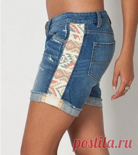 Как интересно расставить джинсовые шорты или брюки. Идеи для вдохновения.   Юлия Жданова   Яндекс Дзен