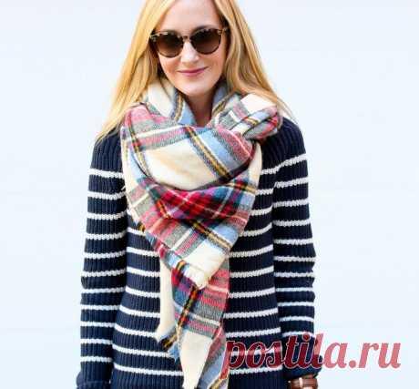 Как носить шарф-oversize: 9 модных идей