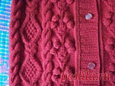 Азы вязания ❤ планки - основные виды и пуловер с косами и ромбами