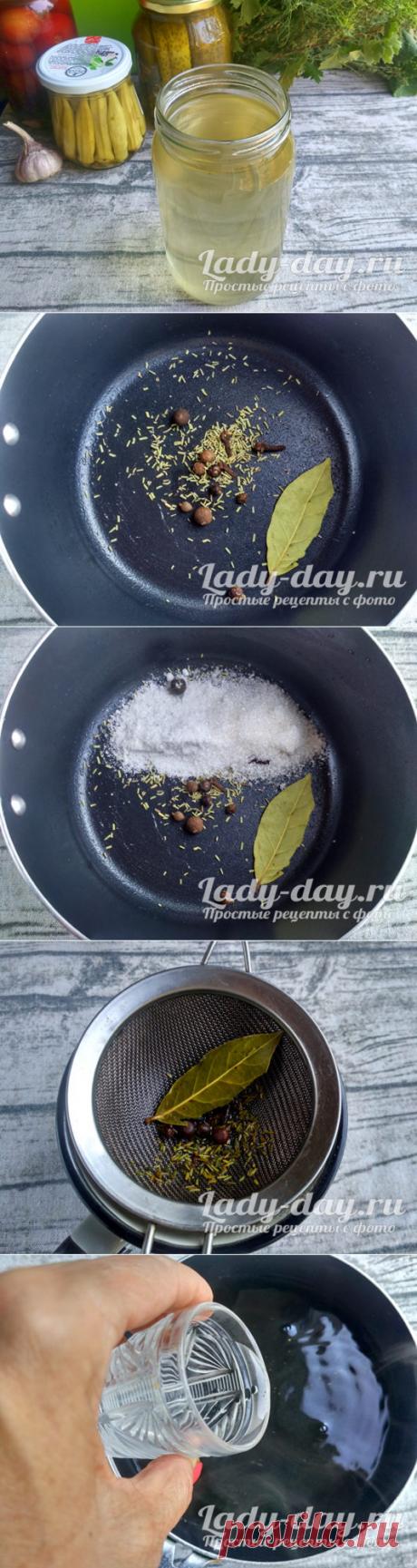 Маринад для огурцов, рецепт на 1 литр воды | Простые рецепты с фото
