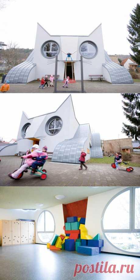 Оригинальный детский сад в виде огромного кота : НОВОСТИ В ФОТОГРАФИЯХ