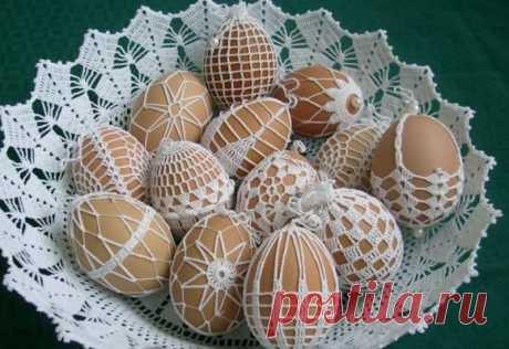 Пасхальный ЧЕХОЛ на яйцо крючком