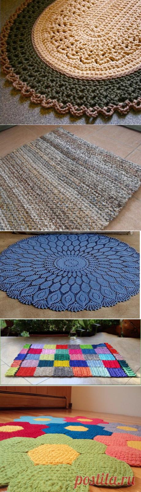 Очень большая подборка ковриков крючком — HandMade