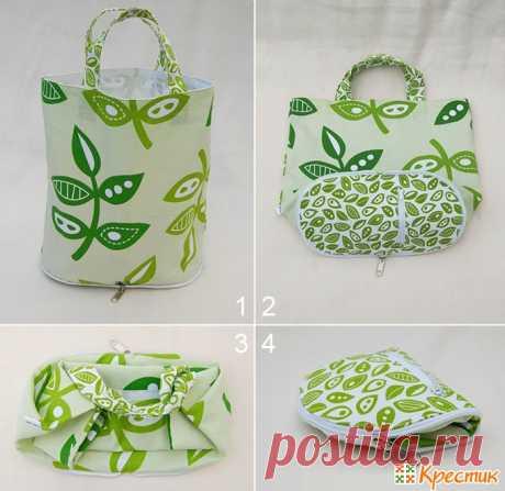 Стильные и удобные сумки из ткани своими руками: мастер-класс по пошиву   Крестик