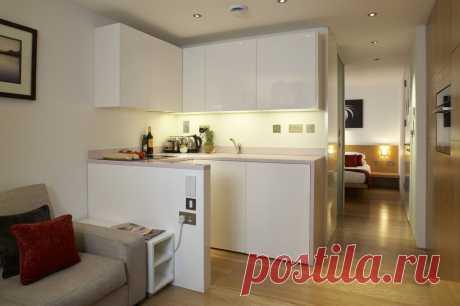 10 вариантов дизайна гостиной с мини-кухней - Postel-Deluxe.ru