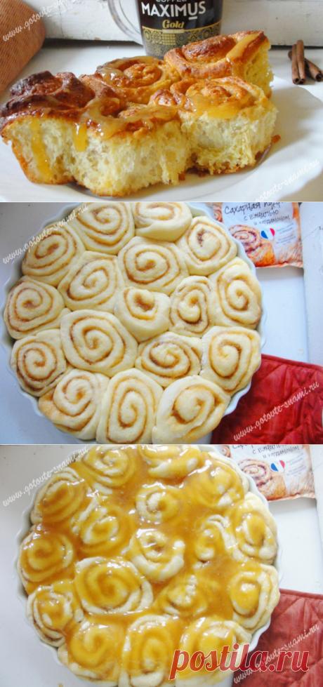 Сладкие булочки с карамелью | Готовьте с нами